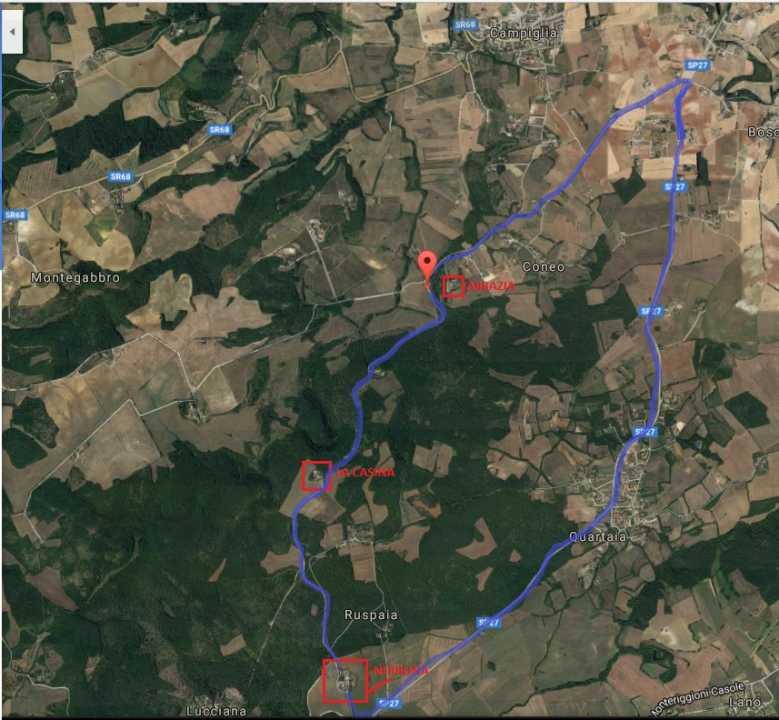 WALK NERBONA BADIA A CONEO Km 8 Nerbona